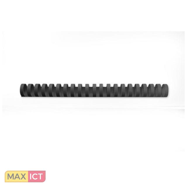 GBC CombBind Bindruggen Zwart 28mm (50). Kleur van het product: Zwart, Maximumcapaciteit: 240 vel, Materiaal: PVC. Gewicht: 930 g. Breedte verpakkin 236 mm, Diepte verpakkin 133 mm, Hoogte verpakkin 322 mm