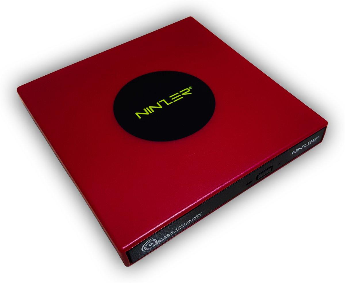 Externe DVD ? RW, DVD Speler en Brander Combo Drive | Rood