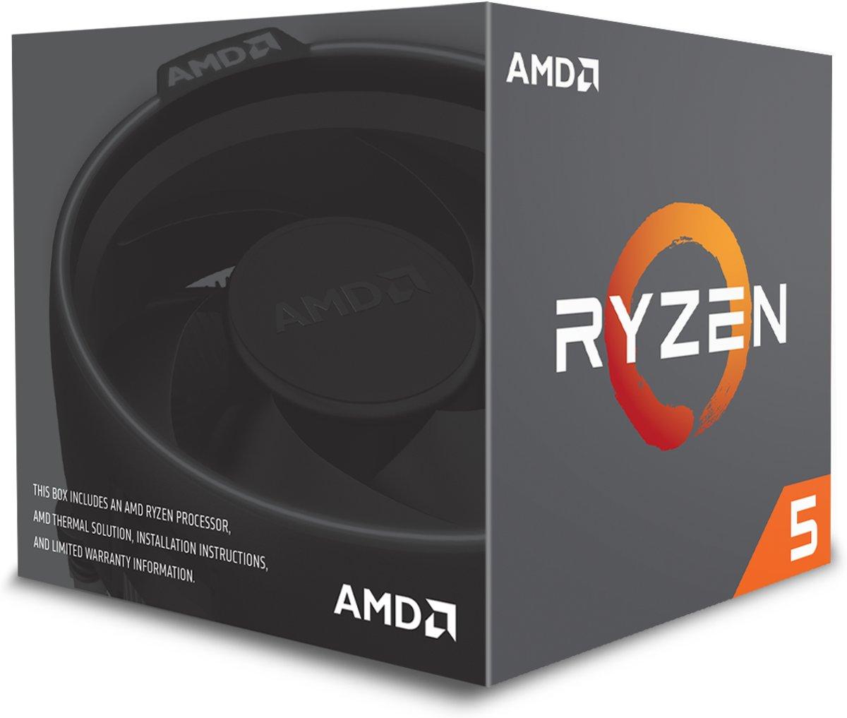 AMD Ryzen 5 1400 incl. Wraith Stealth koeler
