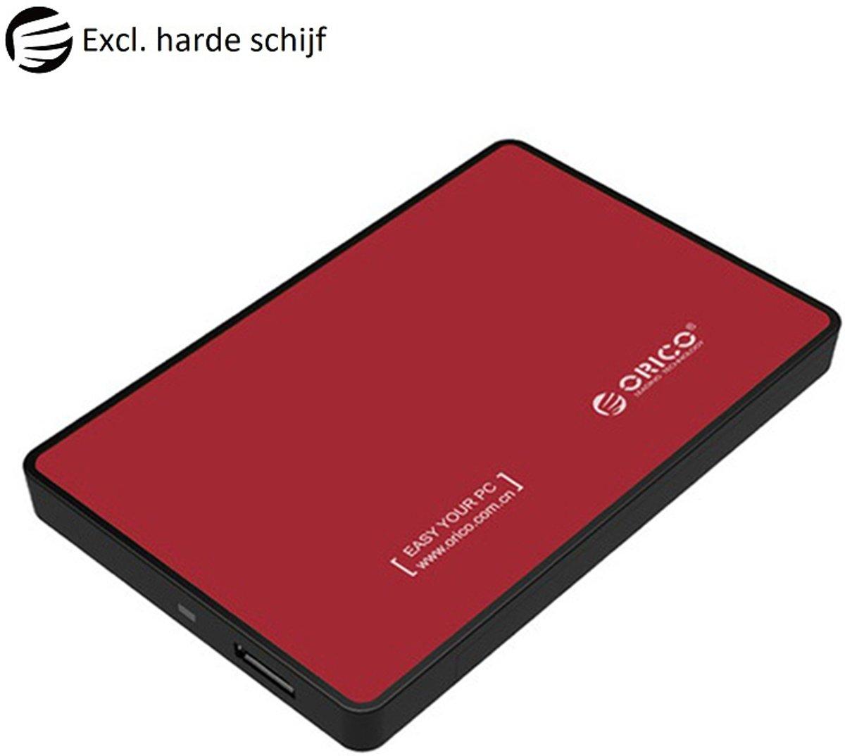 Orico Harde schijf behuizing 2.5 inch SATA HDD/SSD - Rood