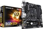 Gigabyte B450M DS3H Moederbord Socket AMD AM4 Vormfactor Micro-ATX Moederbord chipset AMD??? B450