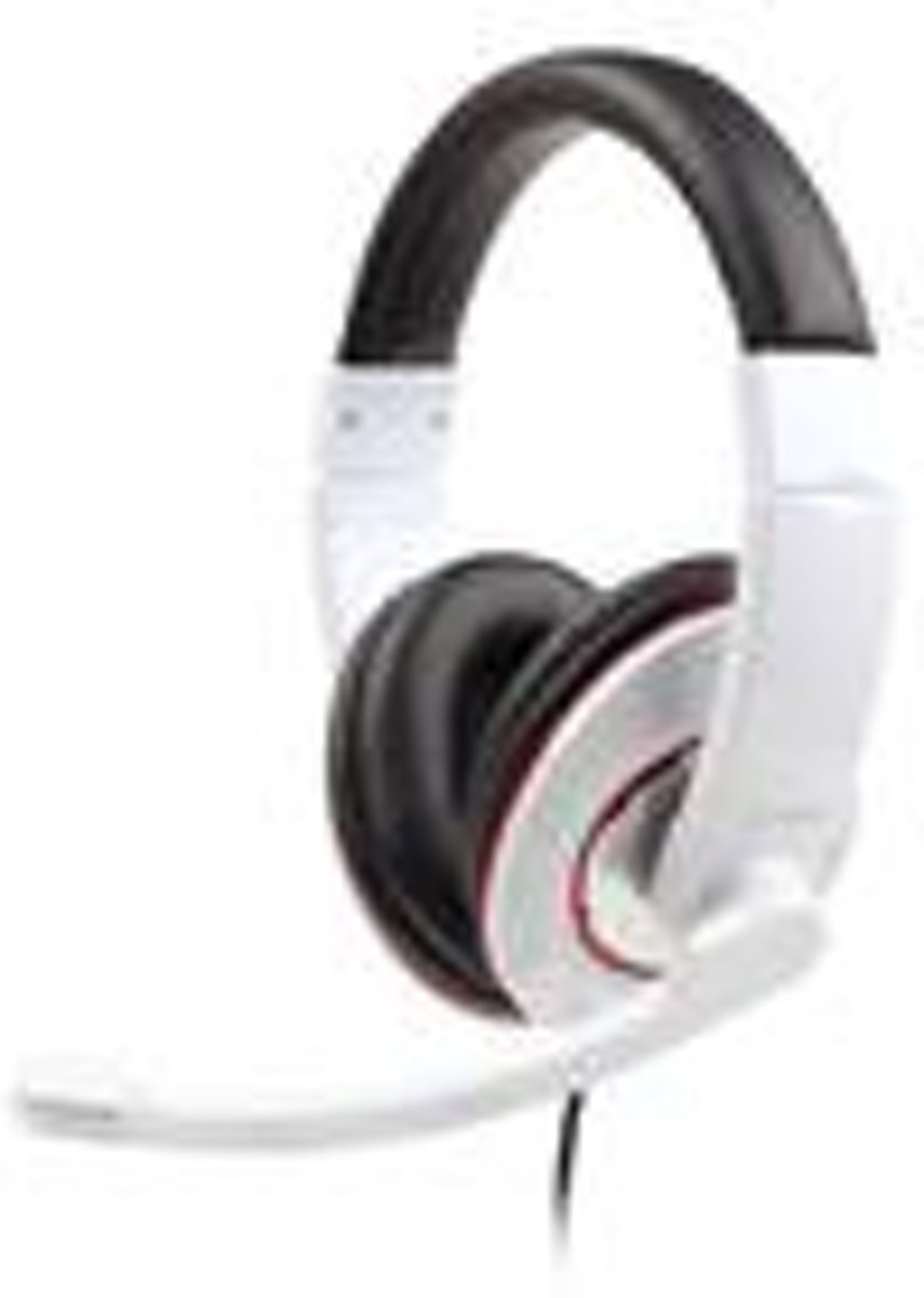 Gembird stereo-headset glossy wit