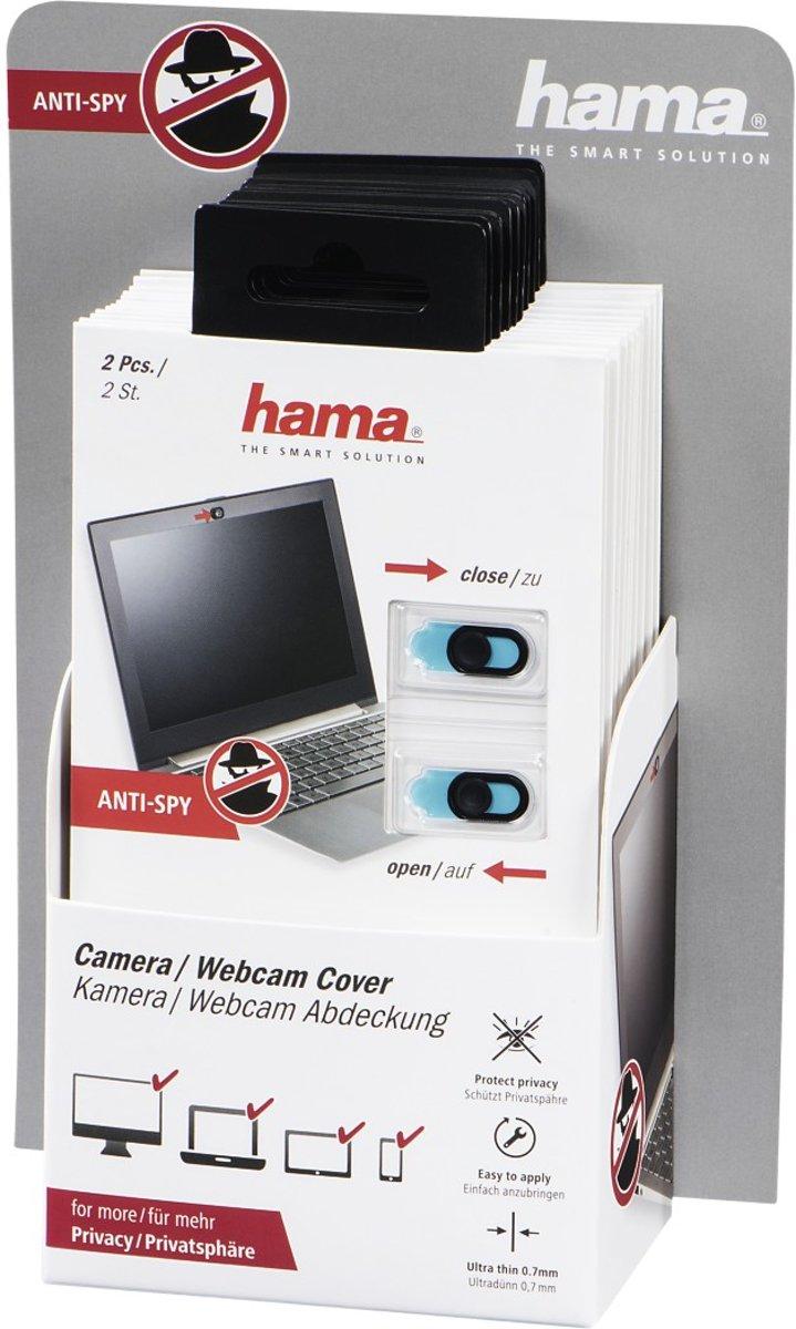Hama Webcam-afdekking (2 st.) voor smartphone/tablet/notebook, 12 stuks in disp.