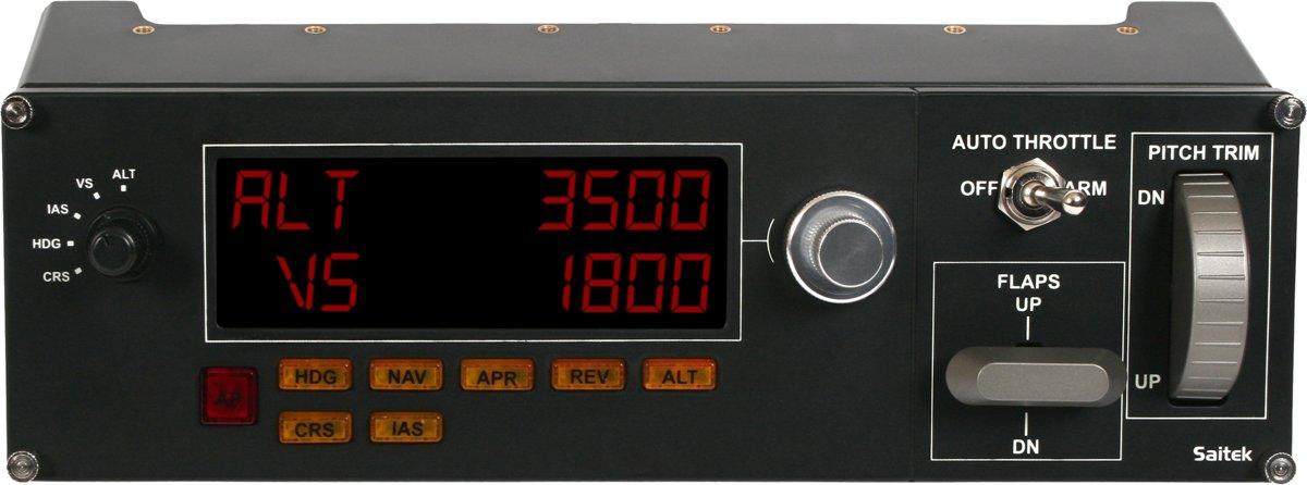 Logitech Gaming Saitek Pro Flight Multi Panel PZ70 Vliegsimulator-controller USB PC Donkergrijs
