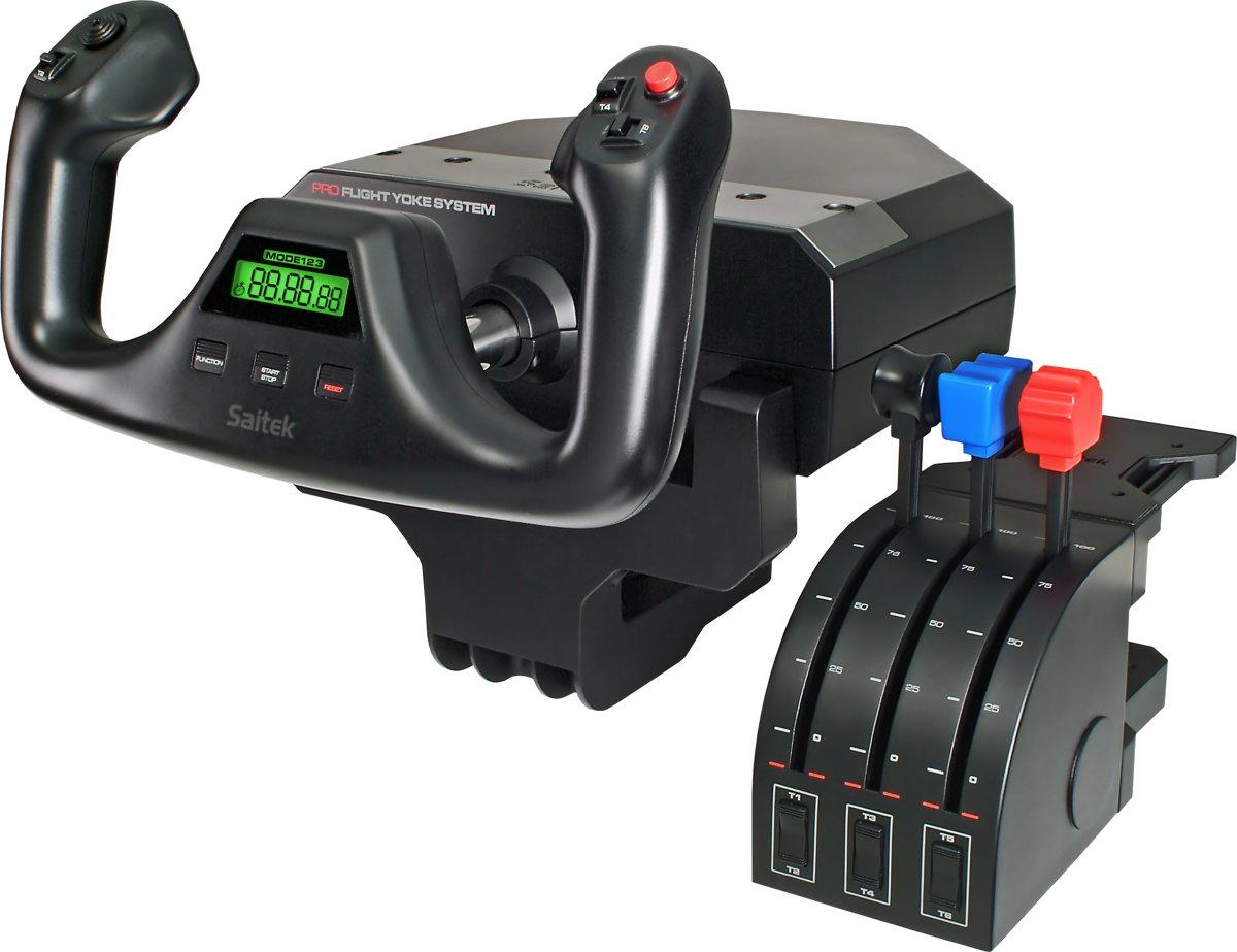 Logitech Gaming Saitek Pro Flight Yoke System PZ44 Vliegsimulator-stuurkolom USB PC Zwart Schroefbevestiging
