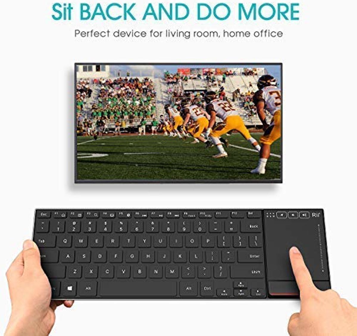 Rii mini K22 comfortabel slim-size keyboard met functietoetsen en touchpad
