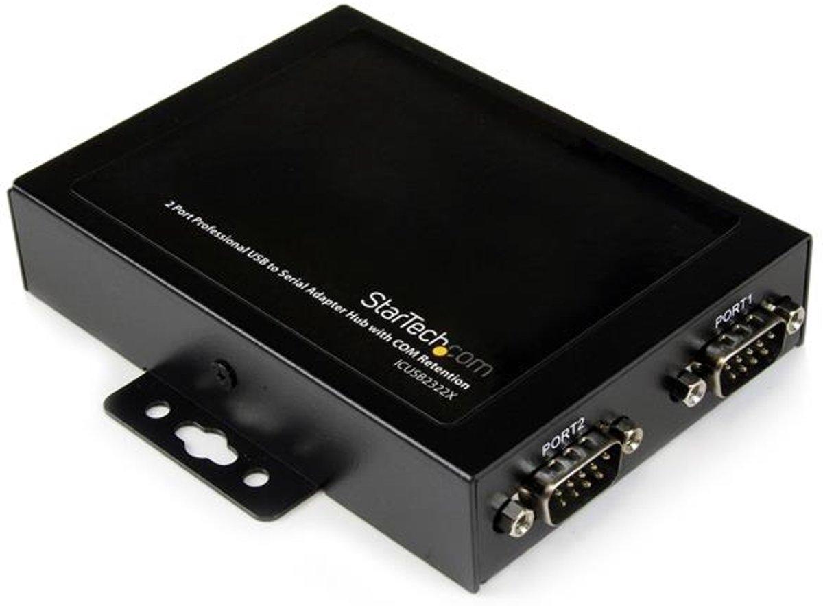 StarTech.com interface hubs Professionele USB naar 2 Seriële Poort Adapter Hub met COM-behoud