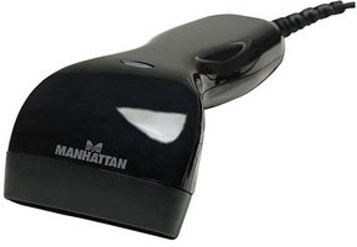 Manhattan 401517 USB-Kit 1D barcodescanner Zwart Handmatig USB