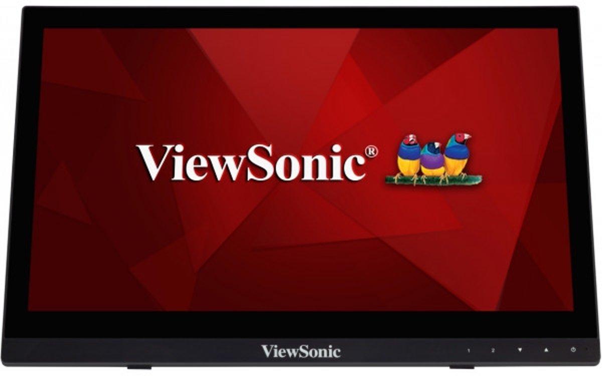 Viewsonic TD1630-3 Touchscreen monitor 40.6 cm (16 inch) Energielabel A++ (A+ - F) 1366 x 768 pix WXGA 12 ms HDMI, USB, VGA, Jackplug TN LCD