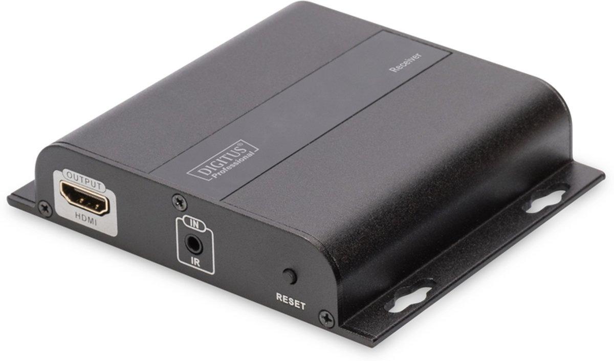 Digitus DS-55123 audio/video extender AV-receiver Zwart