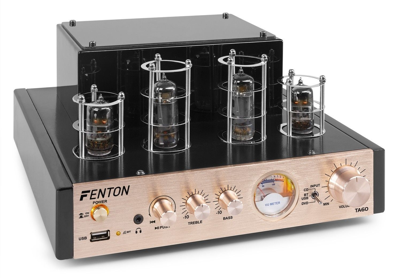 Fenton TA60 hybride buizenversterker met Bluetooth en mp3 speler