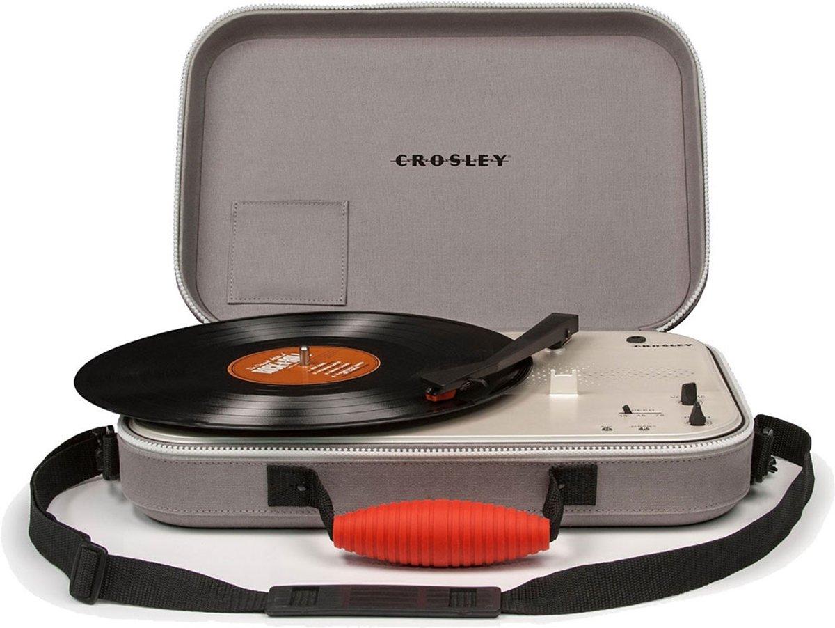 Crosley Messenger Platenspeler grijs - Koffermodel