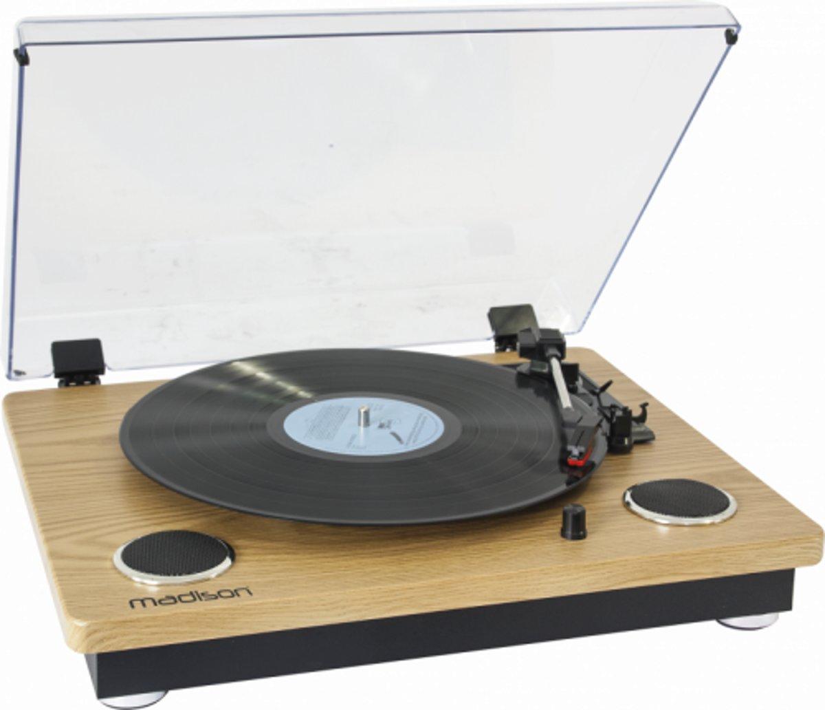 Madison MAD-RT300SP Vintage draaitafel met ingebouwde luidsprekers & bluetooth