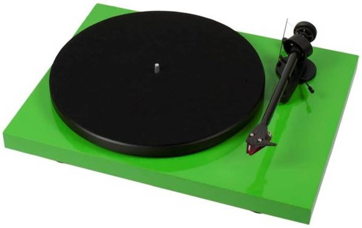 Pro-Ject Debut Carbon DC 2M-Red groen hoogglans Platenspeler