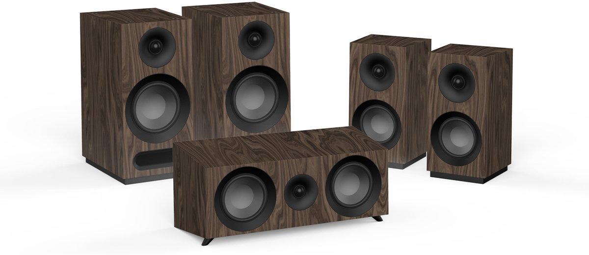 Jamo boekenplank speaker S 803 HCS SET walnoot