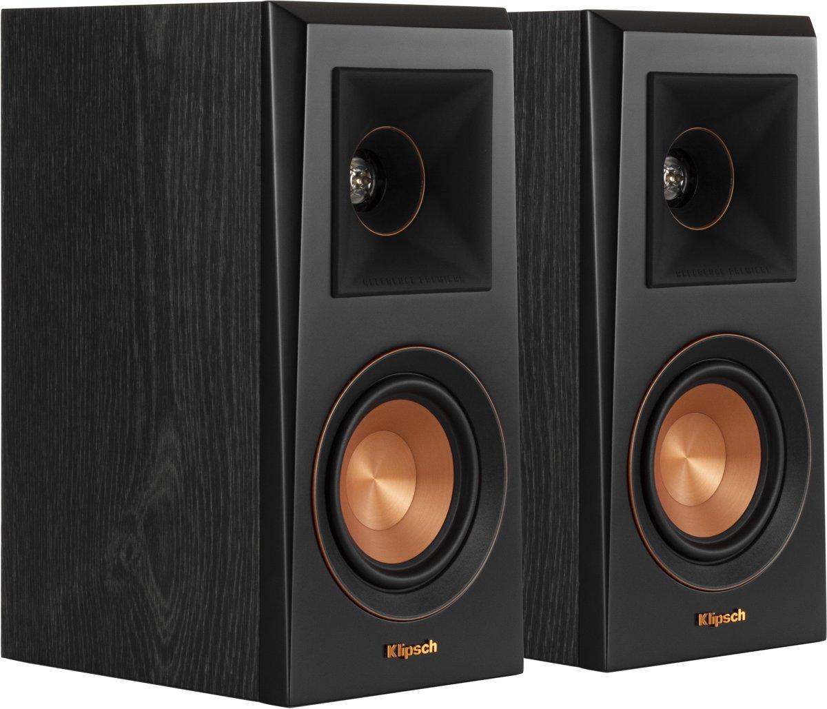 Klipsch boekenplank speaker RP-400M ebbenhout