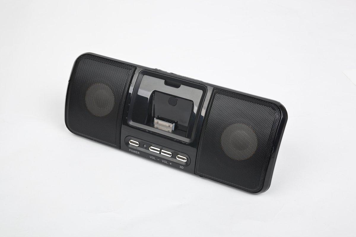 Gembird SPK321i docking luidspreker 2.0 kanalen 3 W Zwart
