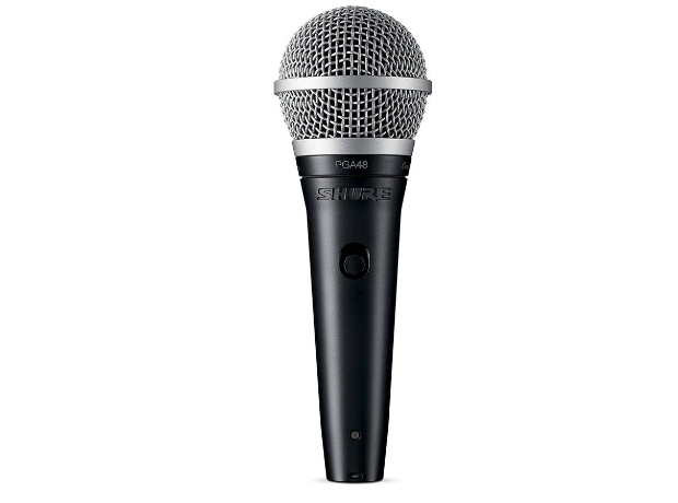 Shure PGA48 XLR Spraakmicrofoon Kabelgebonden incl. kabel, incl. klem, Schakelaar, Metalen behuizing