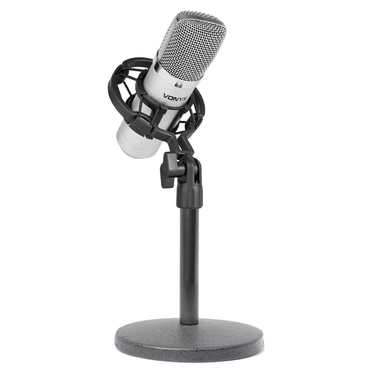 Vonyx CM400 studio condensator microfoon met tafelstandaard
