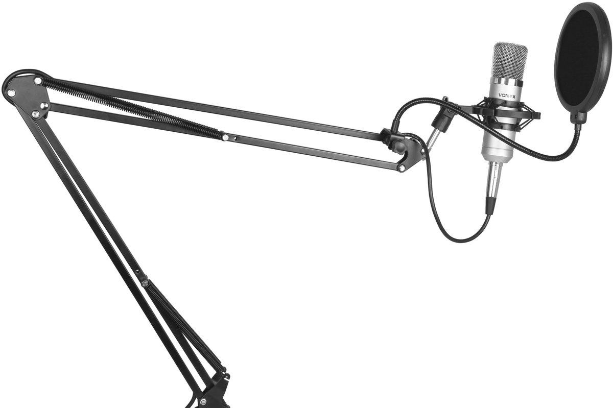 Vonyx CM400 studiomicrofoon met verstelbare arm en popfilter