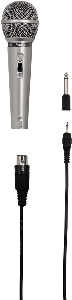 Hama Dynamische Microfoon Dm-40, Zilver