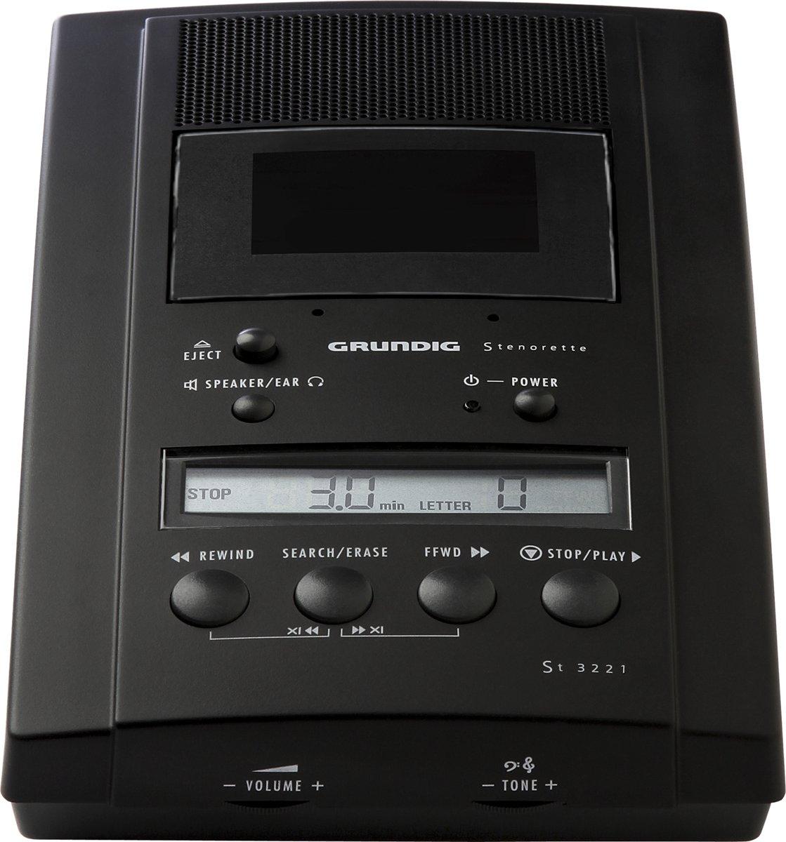 Grundig ST 3221 dictaphone Cassette Zwart