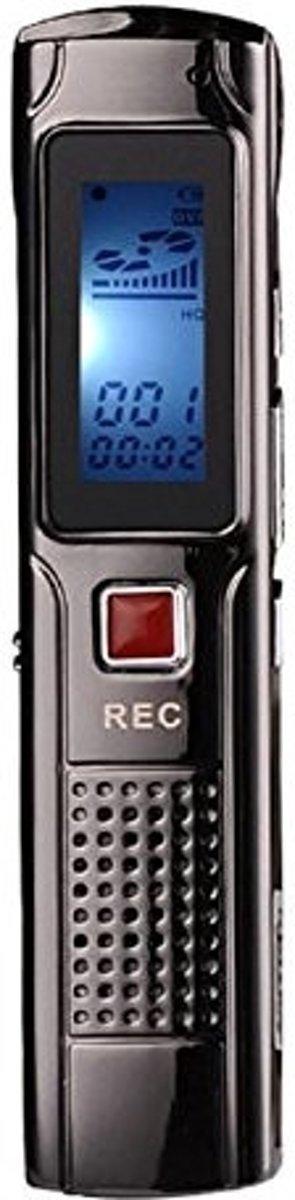 Digitale Dictafoon Voice Recorder - 8 GB - Memo Audio Recorder - Spraak Recorder