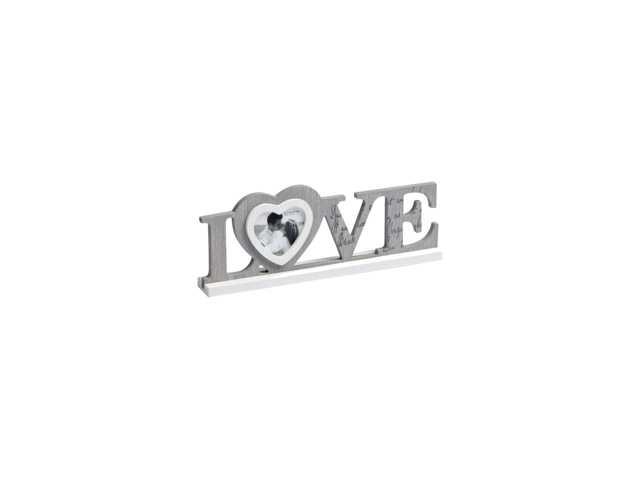 Love - Portretlijst - Fotomaat 8 x 8 cm - Grijs