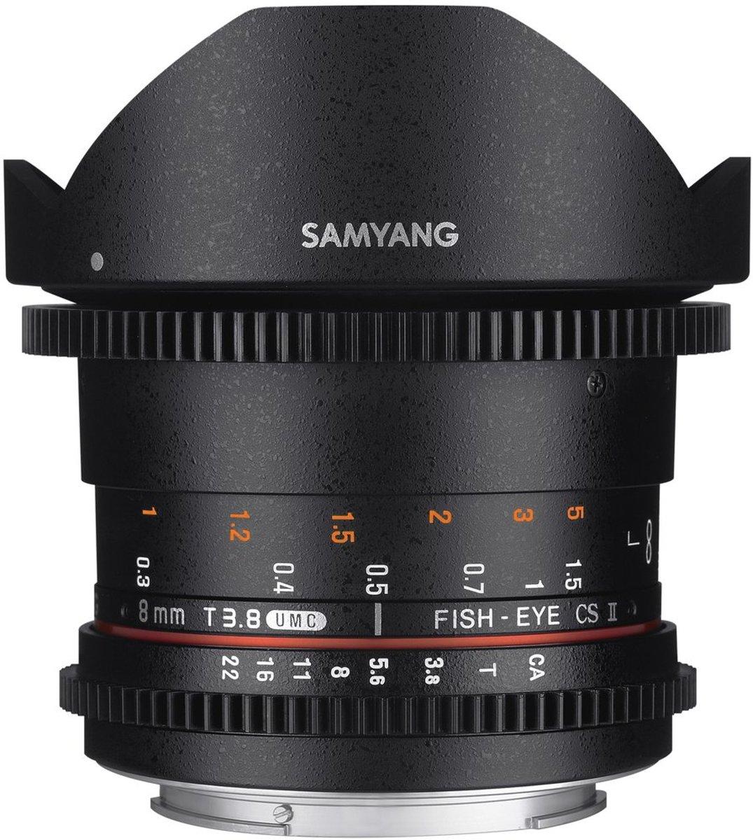 Samyang 8mm T3.8 Umc Vdslr Fisheye Cs II  - Prime lens - geschikt voor Canon Spiegelreflex