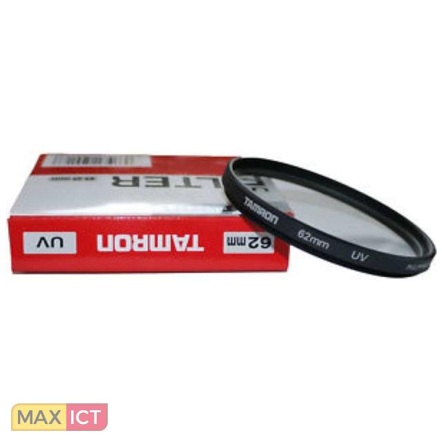 Tamron 62/UV. Maat filter: 6,2 cm, Filter type: Ultraviolet (UV) camera filter. Aantal per verpakkin 1 stuk(s). Kleur van het product: Zwart