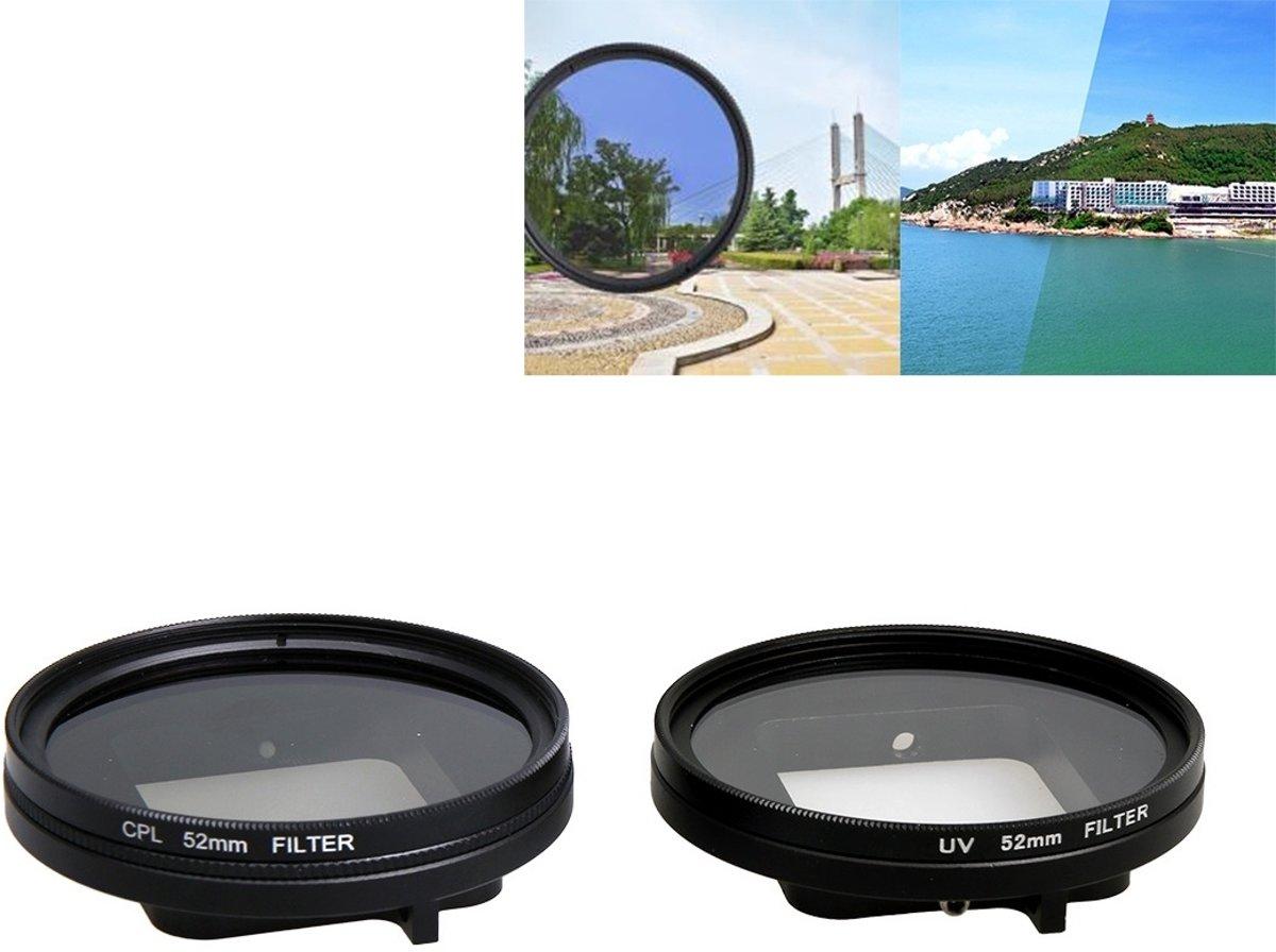 Voor GoPro HERO5 Proffesional 52-mm lensfilter (CPL-filter + lensbeschermkap + inbussleutel) & (UV-filter + lensbeschermkap + inbussleutel)