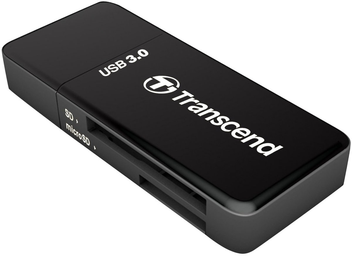Transcend RDF5 Externe geheugenkaartlezer USB 3.0 Zwart