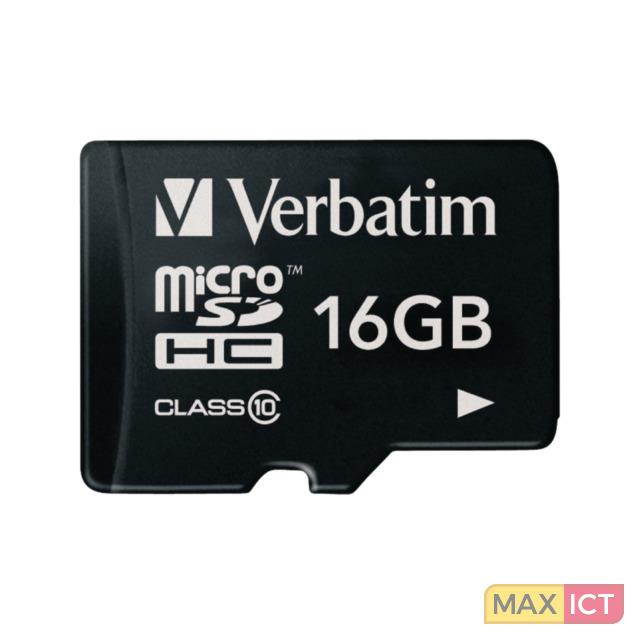 Verbatim Premium. Capaciteit: 16 GB, Soort flashgeheugen: MicroSDHC, Flash memory klasse: Klasse 10, Leessnelheid: 10 MB/s, Schrijfsnelheid: 10 MB/s. Kleur van het product: Zwart