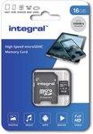 Integral microSDHC 16 GB UHS-I U1 100 MB/s