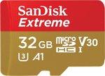 SanDisk microSDXC Extreme 32GB 100MBs U3 +ad - Action Cam