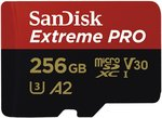 SanDisk Extreme Pro??? microSDXC-kaart 256 GB Class 10, UHS-I, UHS-Class 3, v30 Video Speed Class A2-vermogensstandaard