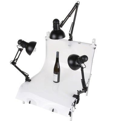 walimex set van 3 daylights, 3x 25 W + opnametafel 17163