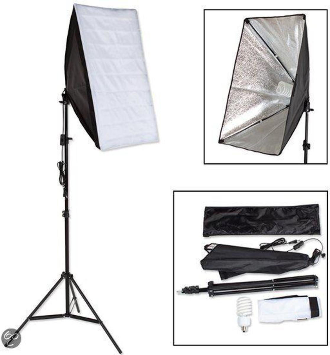 TecTake Studiolamp - 1 x fotolamp fotografie softbox  - 400752