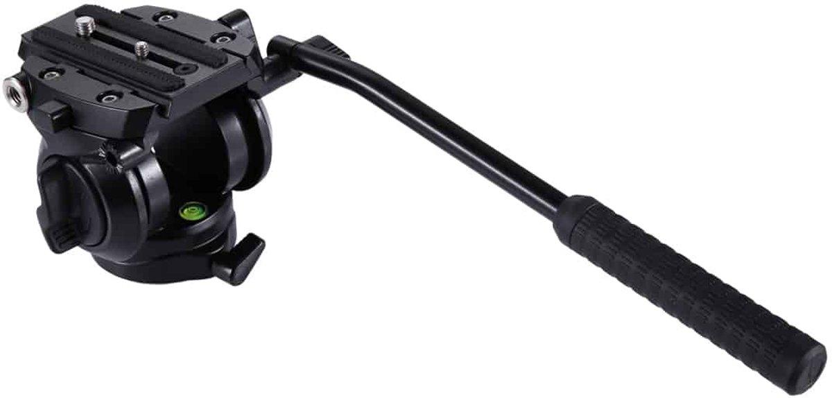 PULUZ Heavy Duty Video Camera Statiefactie Fluid Drag Head met schuifplaat voor DSLR & SLR-camera's, klein formaat (zwart)