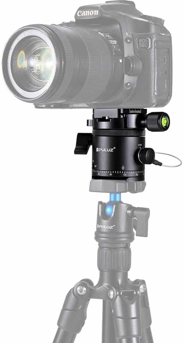 PULUZ Aluminium Panoramische 360 graden indexering Rotator Balhoofd met Quick Release Plate voor Camera Statiefkop