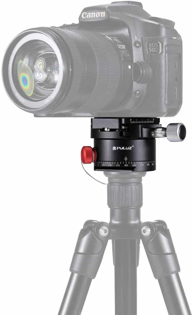 PULUZ Aluminium Panoramisch Indexering Rotator Balhoofd met Quick Release Plate voor Camera Statiefkop