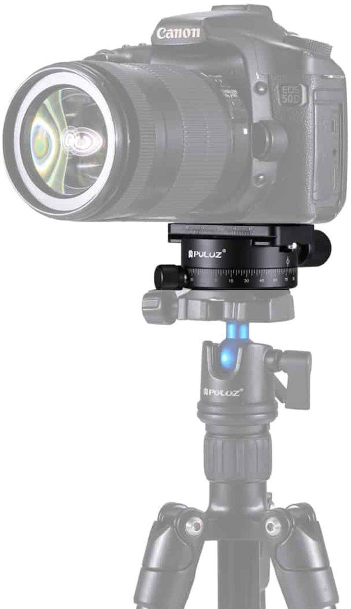 PULUZ Aluminium 360 graden rotatie Panorama balhoofd met Quick Release Plate voor camera statiefkop