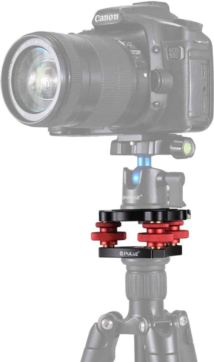 PULUZ Aluminium afstelschijven Leveling Base Ball Head voor Camera Statiefkop
