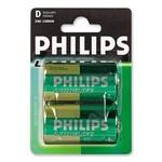 Philips Longlife D-batterijen 2 stuks