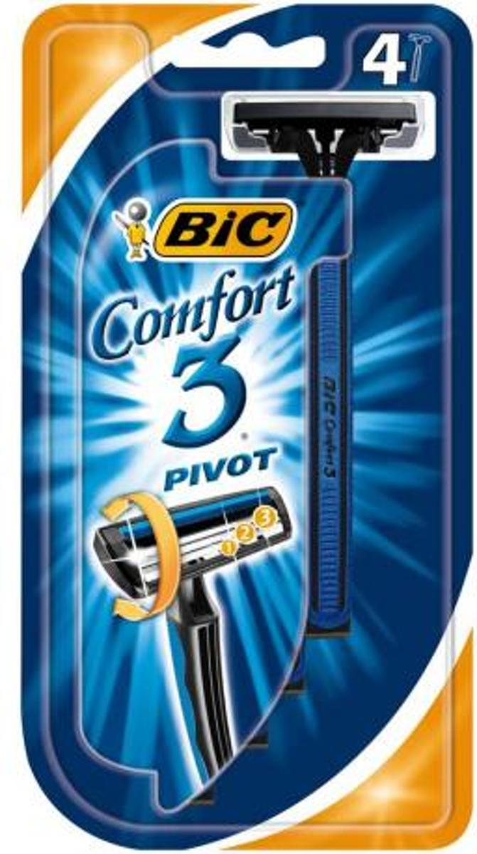 Bic Comfort 3 Wegwerp Scheermesjes 4 mesjes