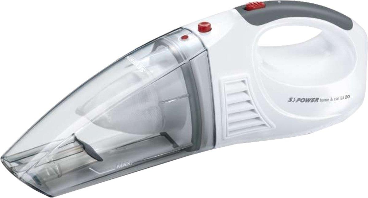Severin S Power Home u. Car Accu-handstofzuiger 7.4 V Sneeuwwit, Rood