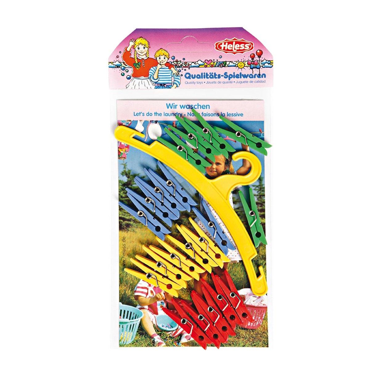 Heless Wasknijperset Voor Poppenkleren 21-delig 4 Cm