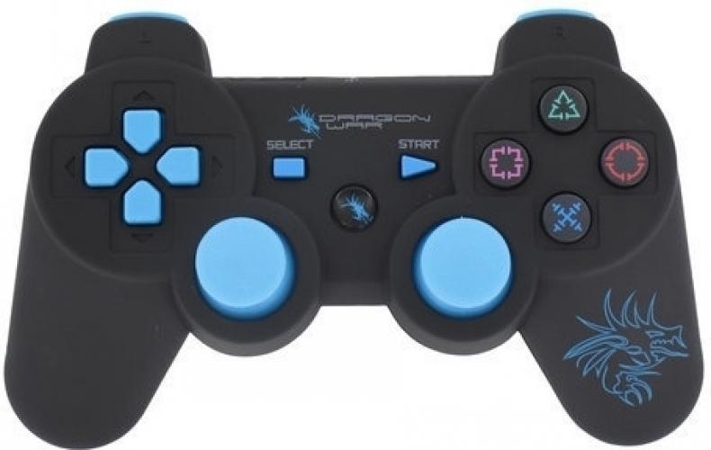 Dragon War Dragon Shock Bluetooth PS3 Controller Zwart
