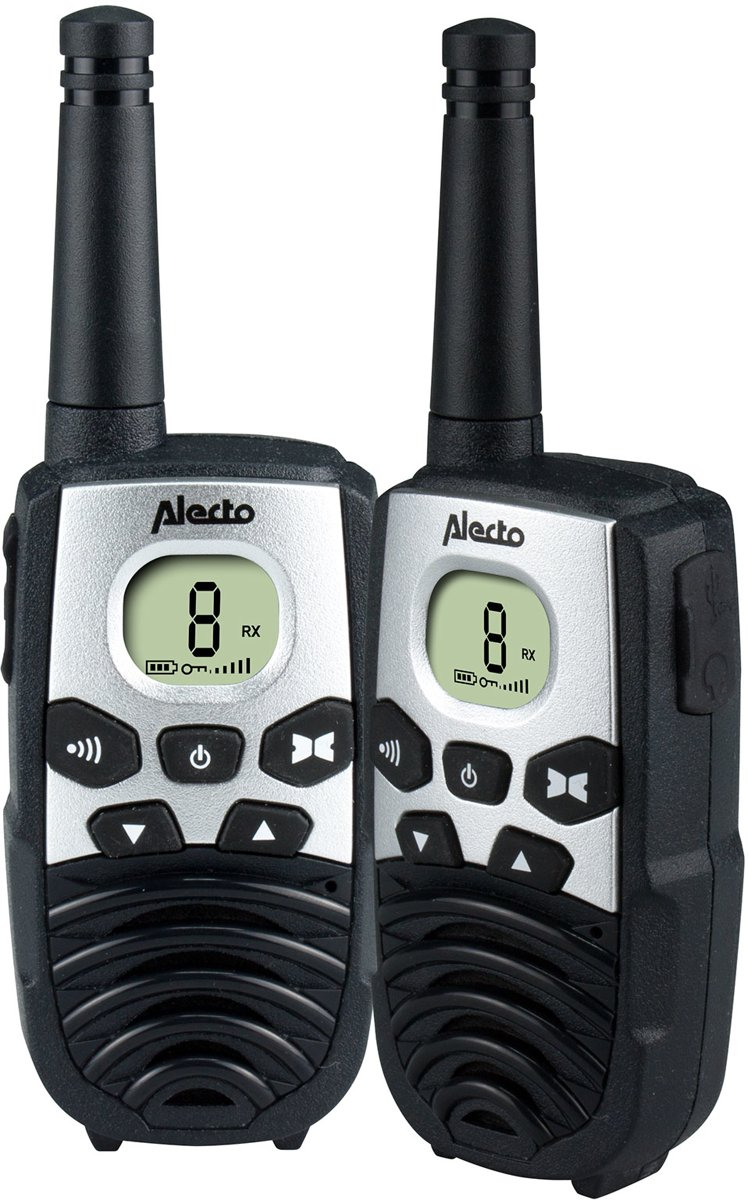 Alecto FR-24 Walkie talkie 7 km | LCD display met verlichting | Zwart
