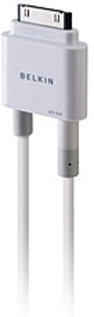 Belkin iPad/iPhone/iPod Videokabel/Audiokabel/Datakabel/Laadkabel [1x Apple dock-stekker - 3x Cinch-stekker, Jackplug ma